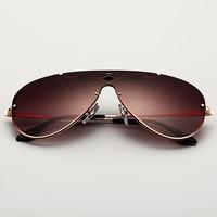 3581 Aviator Sunglasses Women Men 60mm Pilot Shooter Wine Red Classic Brand Driving Glasses Oculos De