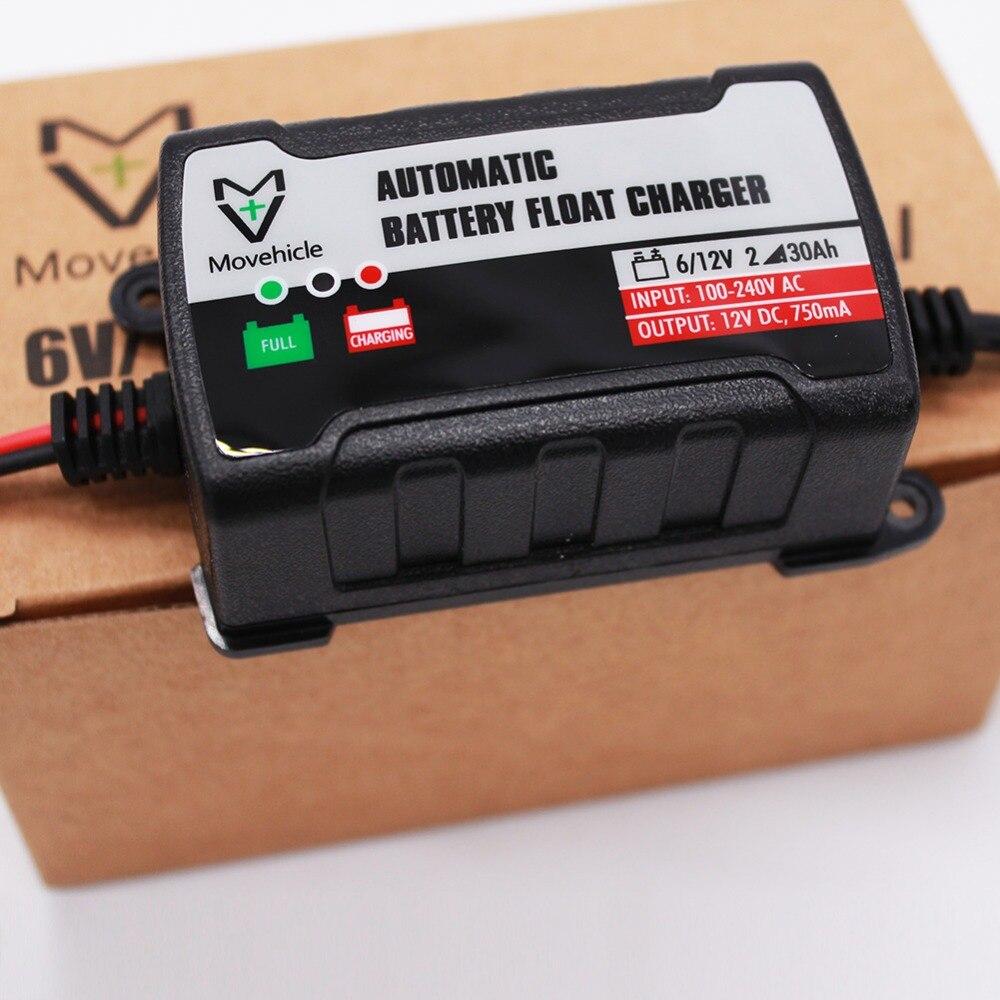 100 240v Motorcycle Atv Car Battery Charger Us Eu Uk Plug Float 6v 12v Maintainer 750ma Lead Acid
