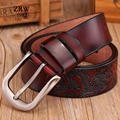 2017 Hot sale fashion leather belt men luxury waist strap ceinture homme sport vogue belts coffee mens designer branded robin je