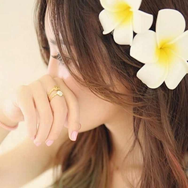 Fashion Wanita Cantik Hawaii Bunga Korsase Bros Pin Klip Pantai Pernikahan Perhiasan Pengantin LX H