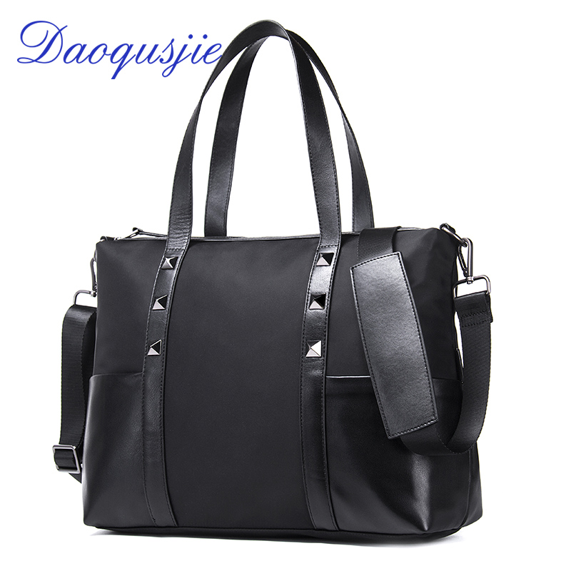 5cefdbac8718 DAOQUSJIE men s nylon handbag casual shoulder bags large capacity male bag  genuine leather bolso hombre crossbody bags for men on Aliexpress.com