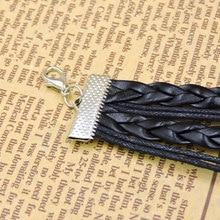 Teen Wolf Head MEN Bracelet with Leather Black Rope