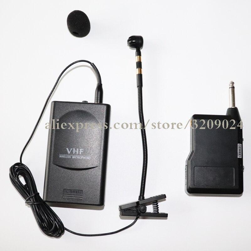 Clip Musical Instrument condensateur Microphone pour Saxophone Orchestral Vocal ou saxo jouant UHF système de Microphone sans fil