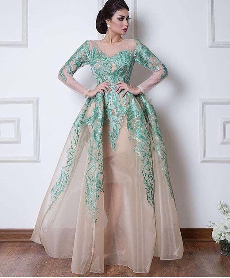 New Arrivals Nice Evening Dress Long Sleeve O Neck Evening Gowns ...