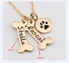 Dog Paw Necklace Personalized Dog Necklace gift