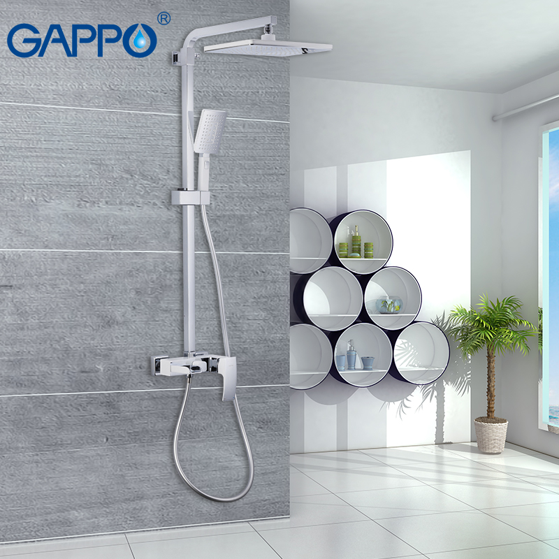 цены GAPPO shower system wall mounted bathroom faucet shower mixer tap bathroom Rainfall shower set bath tub faucet torneira tap