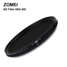 Professional Zomei Adjustable 58mm ND Filter ND2 – 400 Coating Germany Glass for Canon Nikon D600 Camera Lens Screw Border
