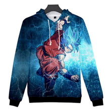 Japan Anime Dragon Ball Z DBZ Pocket Hooded Sweatshirts Men Super Saiya Kid Goku Vegeta Print 3D Hoodie Students Teen Clothes