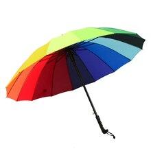 Umbrella Hook Rain Women Sun Outdoor Large Rainbow Shade Clear Ladies Men Kids Strong Ombrello Parasol Audi 50KO001