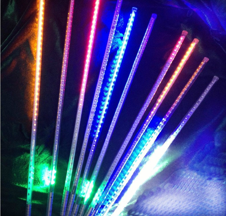 free shipping 60cm 8pcsset christmas lights tree decoration shower rain led meteor tube icicle light of waterproof in holiday lighting from lights - Tube Christmas Lights