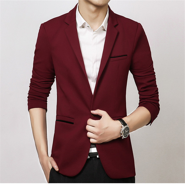 FGKKS New Arrival Luxury Men Blazer New Spring Fashion Brand Slim Fit Men Suit Terno Masculino Blazers Men 4