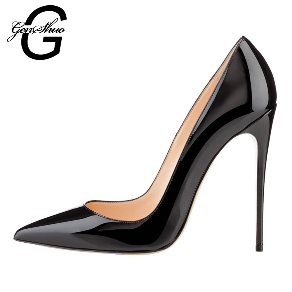 genshuo heels women high heels 10cm pumps brand shoes. Black Bedroom Furniture Sets. Home Design Ideas