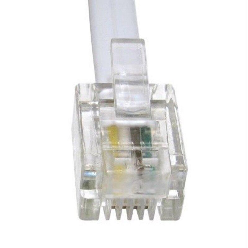 5m Long RJ11 To RJ11 Cable Lead 4 Pin ADSL DSL Router Modem Phone 6p4c ` WHITES!