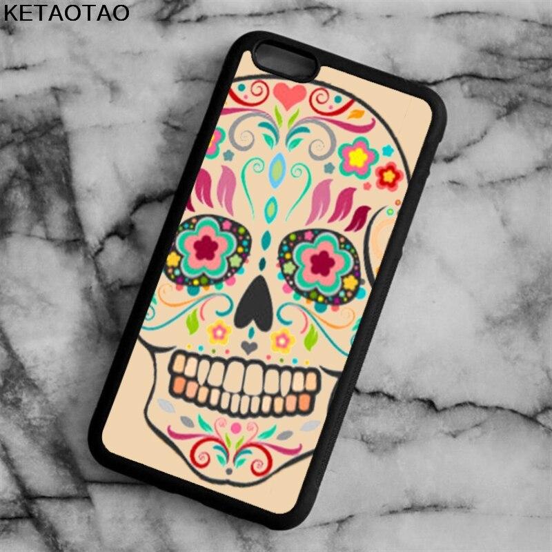 Ketaotao Прохладный Череп милые животные Телефонные чехлы для iphone 4S 5S 6 6 S 7 8 X Plus для Samsung S7 8 Примечание Чехол Мягкий ТПУ Резиновая силиконовые