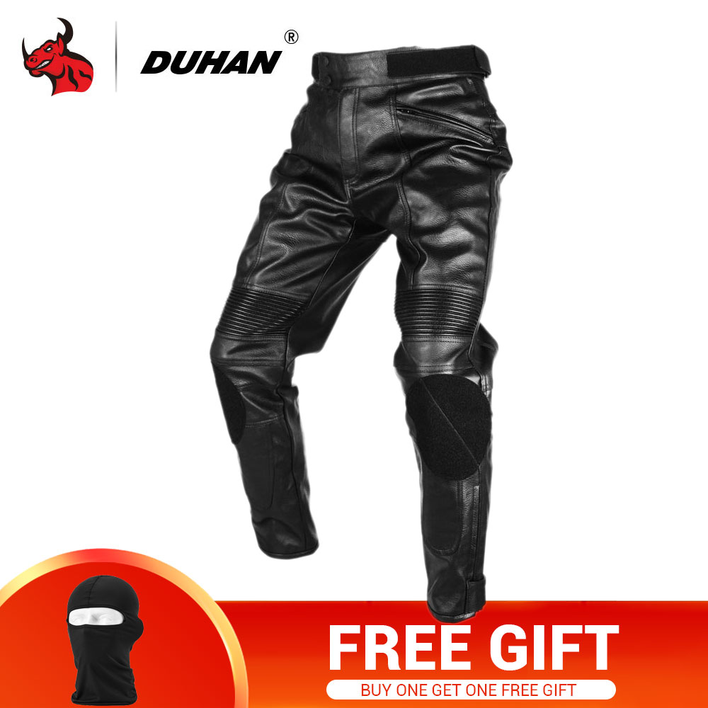 e46ae1697ab7 DUHAN Motorcycle Trousers Motorcross Riding Protective Trousers Waterproof  Windproof PU Imitation Leather Racing Sports Pants