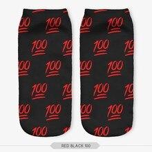 100 Percent Full Printing Socks Low Cut Ankle Socks  Unisex Short Socks Casual Hosiery