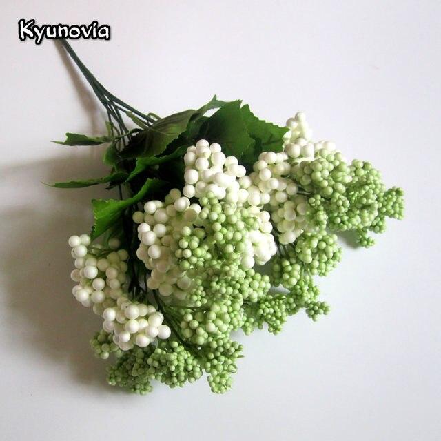 Online Shop Kyunovia Artificial Berry and Leaf Spray Foam Berries ...