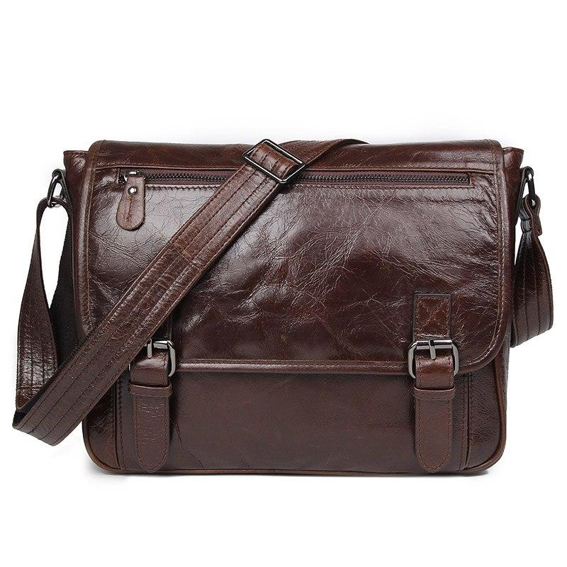 J.M.D Tanned Leather Mens Shoulder bag Vintage Messenger Bag Crossbody Bag 7022QJ.M.D Tanned Leather Mens Shoulder bag Vintage Messenger Bag Crossbody Bag 7022Q