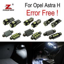 15 pz LED luce della targa + Luci Interne Kit lampadina per Opel Astra H OPC GTC Caravan Saloon Immobiliare hatchback (2004-2009)