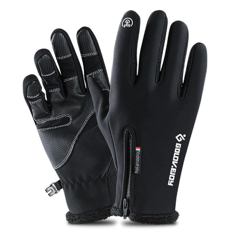 Winter Cycling Bicycle Gloves Windproof Thermal Warm Fleece Gloves Men Women Motorcycle Snow Skiing Sport Bike Glove