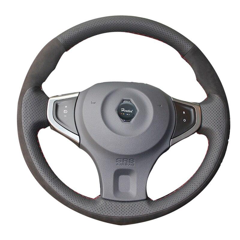Tresse sur la Couverture De Volant De voiture pour Renault Koleos 2009-2014 Samsung QM5 Tampa ne volante ne carro