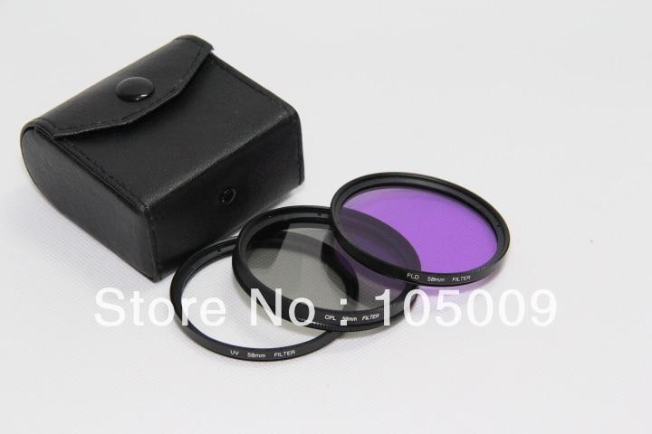 30 37 40.5 43 46 49 52 55 58 62 67 72 77 82 mm UV + FLD + CPL Lens Filter Protector for canon nikon pentax sony dslr camera