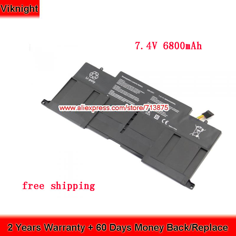 7.4V 6800mAh 50Wh C22-UX31 UX31A Battery For Asus ZenBook UX31E Battery UX31 футболка print bar enter shikari