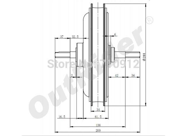 Hot-sale livraison gratuite arrière frein à disque 48 V 500 W populaire brossé électrique motorOR01I3