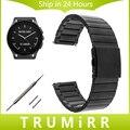 22mm Pulseira De Aço Inoxidável + Pinos de Liberação Rápida para o Vetor luna meridiano smart watch band alça de pulso pulseira link 4 cores