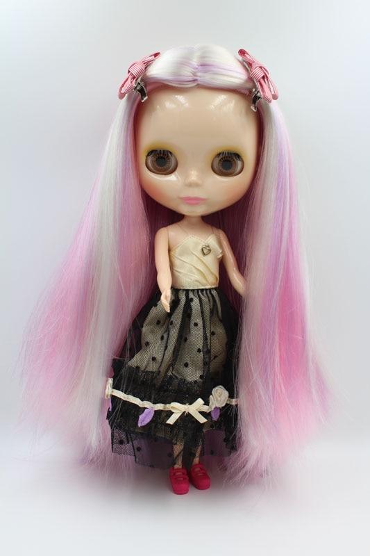 送料無料ビッグ割引RBL 249DIYヌードブライス人形誕生日ギフト女の子のための4色大きな目人形で美しい髪かわいい玩具  グループ上の おもちゃ & ホビー からの 人形 の中 1