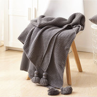 Soft Chunky Thick Yarn Knitting Throw Tassels Blankets Knitted Blanket Plaids for Winter Bed Sofa Ultra Plush Bedroom Decor