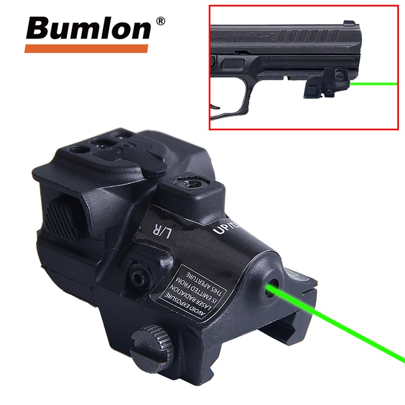 Universal Green Dot Laser Sight Fit Adjustable Goggle Laser Gun For Glock Pistol Rifle Hunting Optics HT3-0034