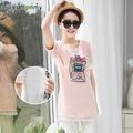 Беременным футболки уход одежда для беременных лето хлопок забавный грудное вскармливание топы беременность одежда уход рубашки