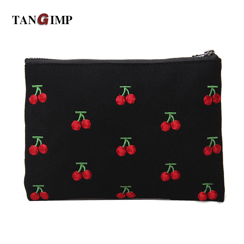 TANGIMP Women Embroidery Cherry Rabbit Canvas Purse Vintage Wallets Storage Bags Card Phone Bags bolsas carteira feminina customize washable wrinkle free new york scenery photography backdrops for kids stage photo studio portrait backgrounds hg 373
