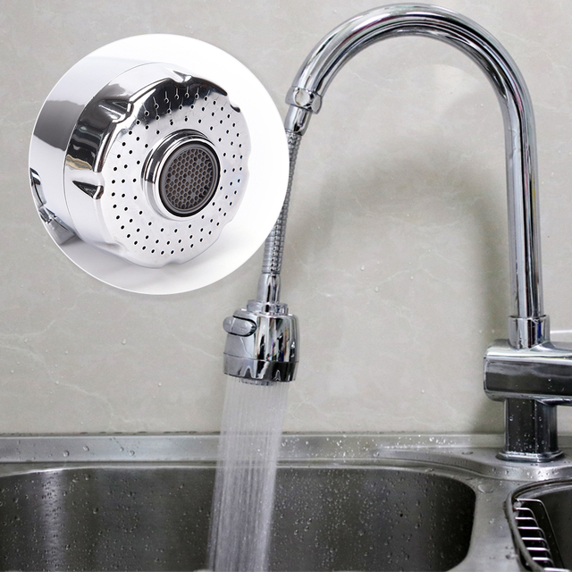 Kitchen faucet aerator water bubbler shower nozzle water saving ...