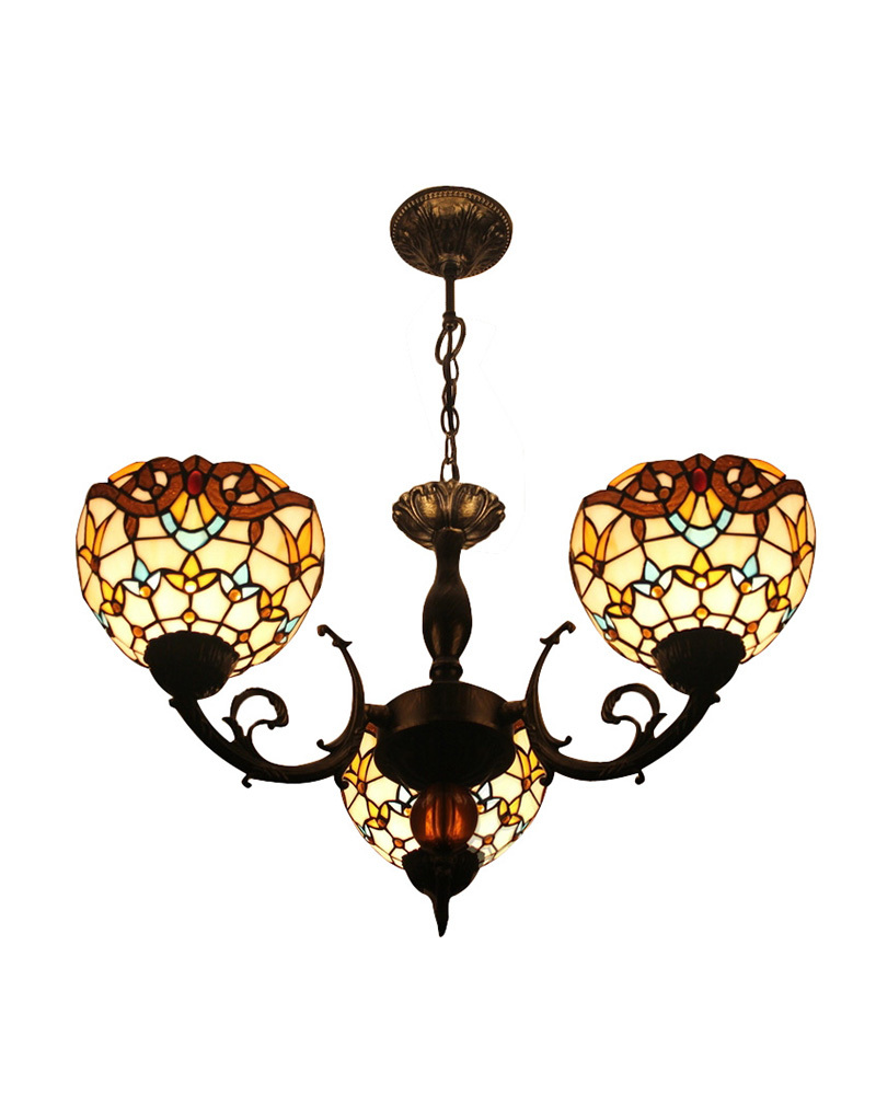 Us 221 19 27 Off Free Ship Chandeliers Lamp Tiffany Style Stained Gl Meditteranean With 3 Lights Sea Bedroom Decoration No 8s201 In
