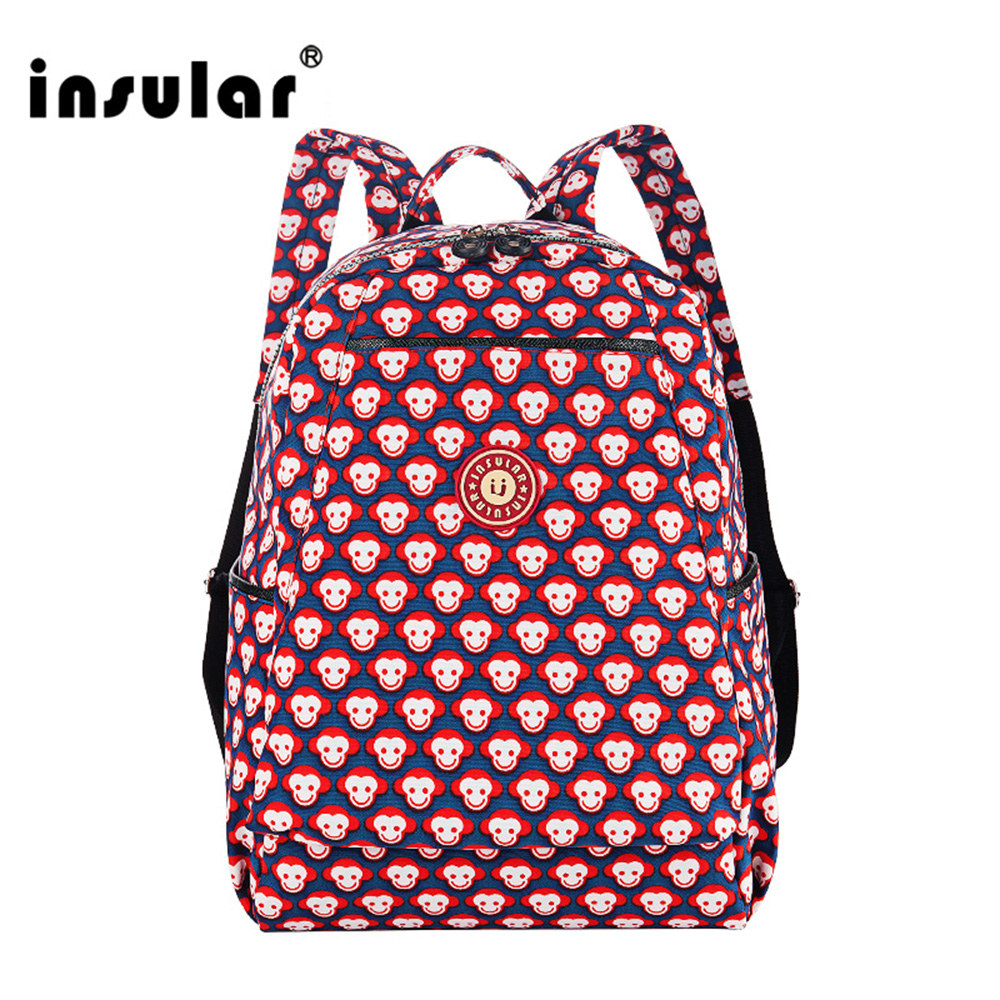 Insular Multifunctional Baby Diaper Bag Backpack Nylon Mommy Bag Waterproof Nappy Bag Backpack