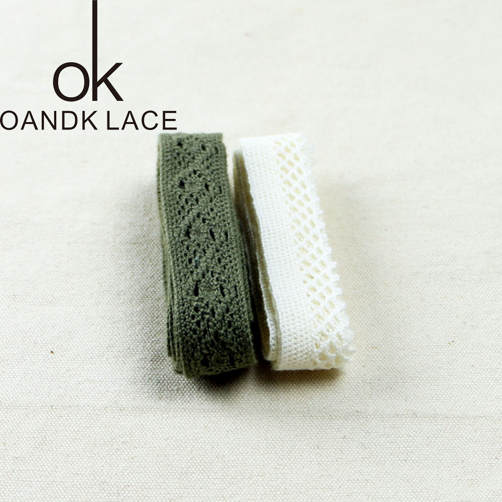HTB136d5lRjTBKNjSZFwq6AG4XXaK 4YARD Apparel Sewing Fabric DIY Ivory Cream Black Trim Cotton Crocheted Lace Fabric Ribbon Handmade Accessories Craft 11021