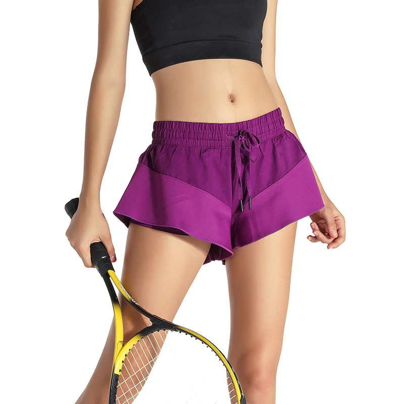 2 in 1 Women Tennis Skorts 2017 New Two Pieces Fitness Sport Pantskirts Breathable Anti Leakage Yoga Jogging Shorts Skirts