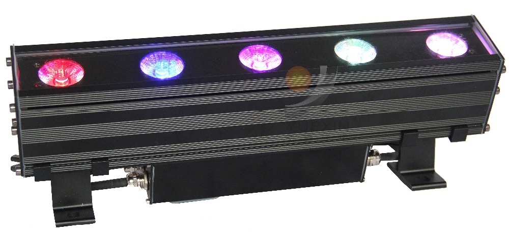 5X10W 4 IN 1 LED Wall Washer light stage Linear Flood Light with Point control