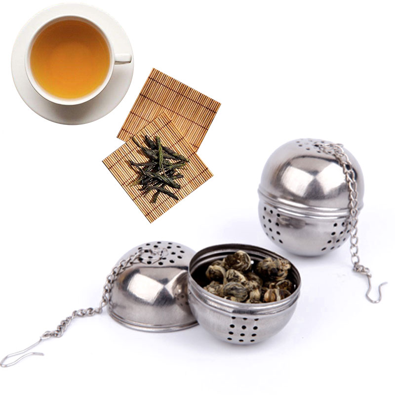 Durable Silver Reusable Stainless Mesh Herbal Ball Tea Spice Strainer Teakettle Locking Tea Filter Spice Tool For Soup
