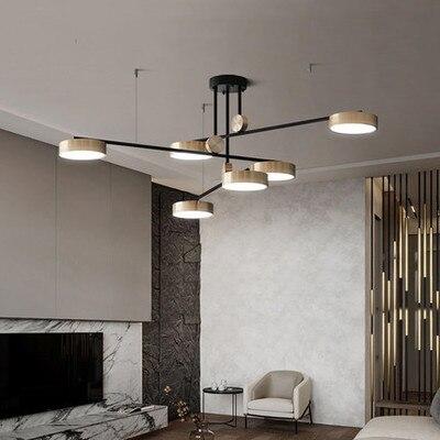 Post-moderne goldene Helle drei farbe anhänger lampe einfache und elegante atmosphäre restaurant rotierenden licht luxus Anhänger lichter