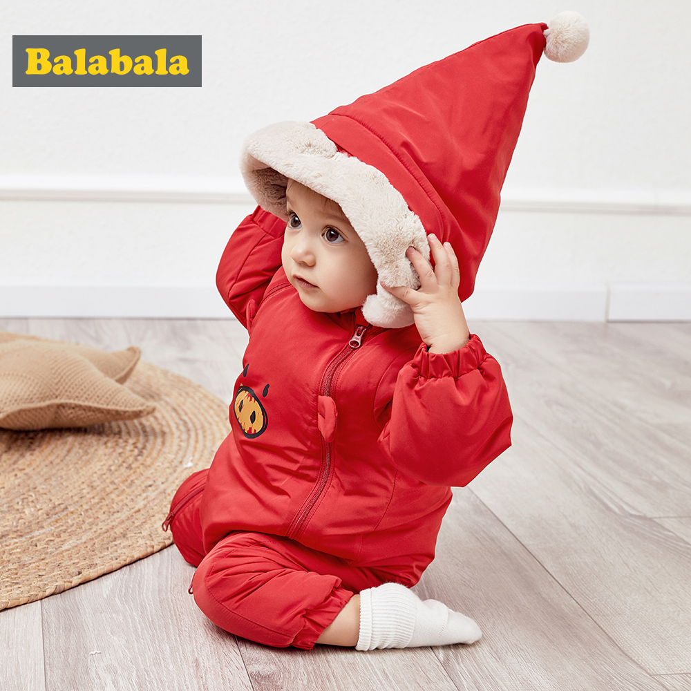 Balabala Baby Padded Snowsuit Winter Baby Critter Jumpsuit Infant Boys Girls One-piece   Romper   Outfit Children Clothing Snow Wear