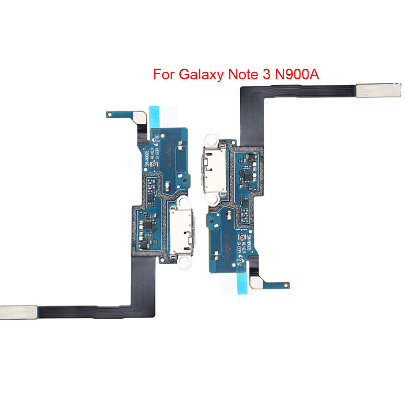 2 Pcs Lot Flex Cable For Samsung Galaxy Note 3 N9005 4G LTE USB Dock Charging Charger Port With Mic Original Replacement Parts