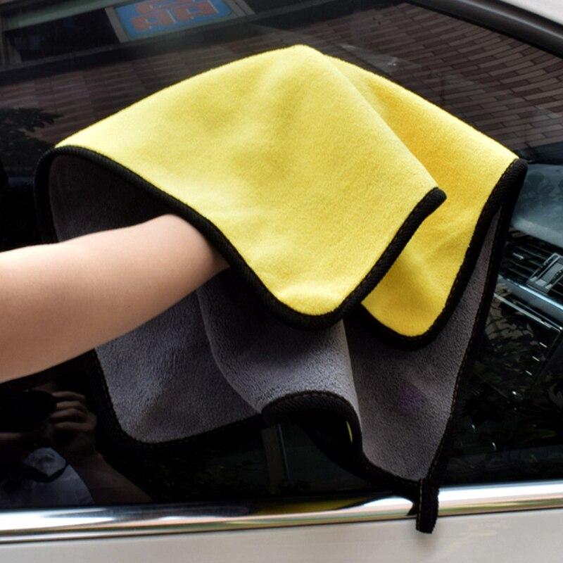 1pc Car Care Polishing Wash Towels Plush Microfiber Washing Drying Towel Strong Thick Plush Polyester Fiber Car Cleaning Cloth(China)