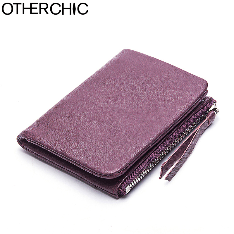 OTHERCHIC Genuine Leather Women Short Wallets Sheepskin Small Soft Wallet Coin Pocket Wallet Female Purse Money Clip 7N05-15 otherchic genuine leather women short slim wallets small wallet zipper coin pocket purse female purses mini money clip 7n03 26