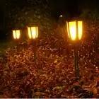 Светодиодный светильник на солнечных батареях, водонепроницаемая лампа для газона, мерцающий фонарь светильник, уличный фонарь для сада с ... - 2