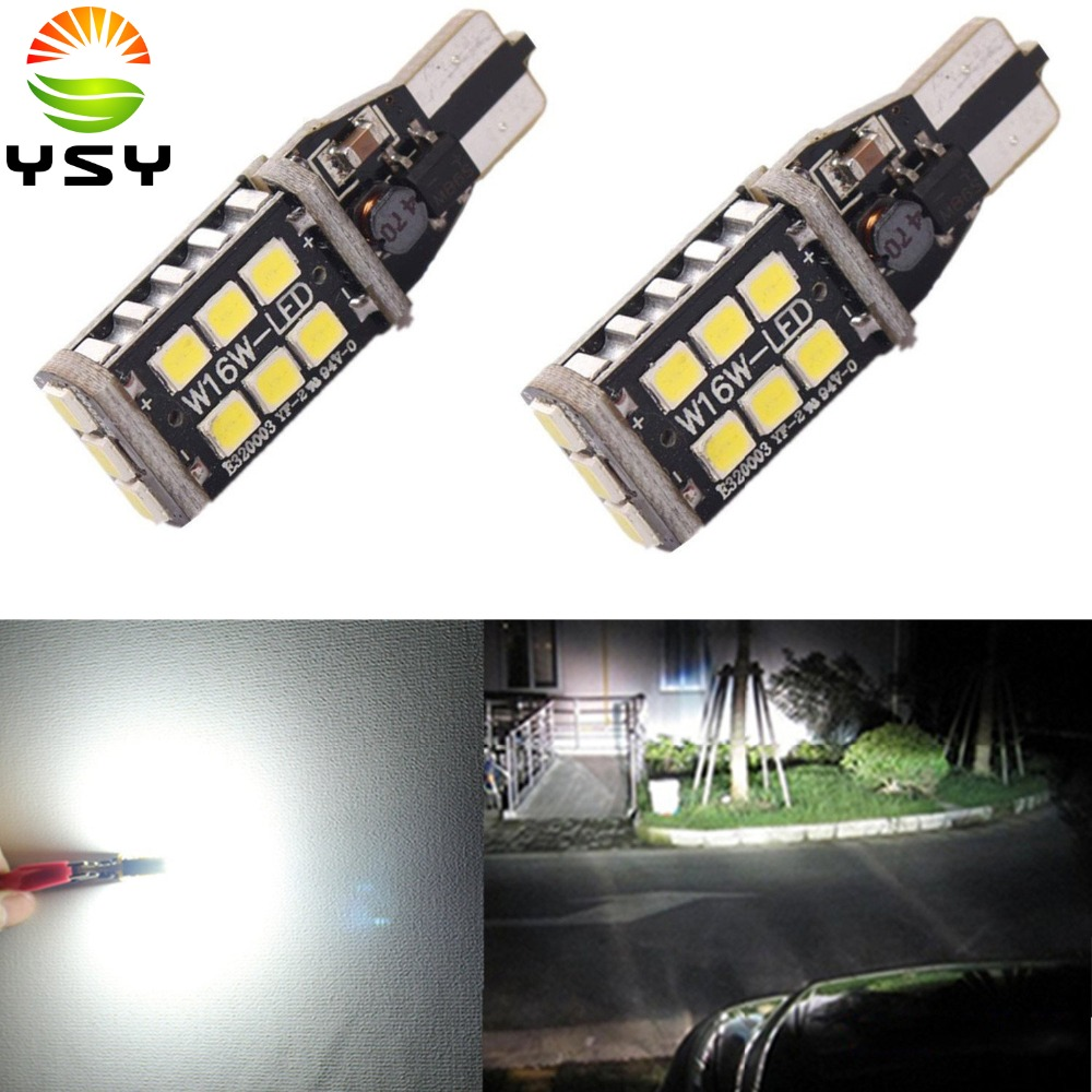 NEW 2x T15 912 906 CANBUS Super Bright 800 Lumens 6000K Xenon White High Power 2835 15-SMD LED Lights Bulbs for Reverse Light