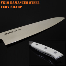 original scu0085 7 Inch Japanese Chef Knife vg10 Cleaver imported damascus steel professional for chef master very sharp