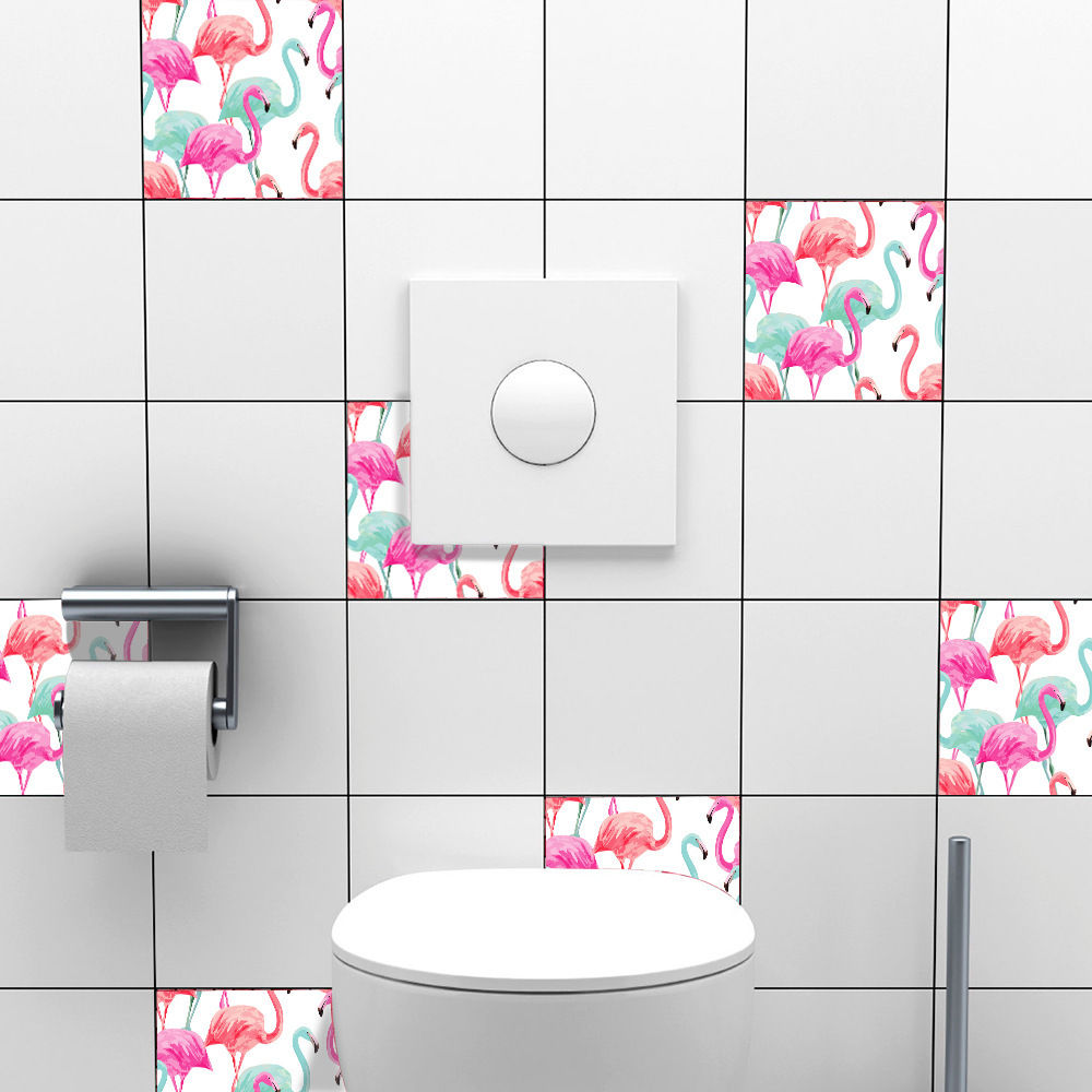 Flamingo PVC Waterproof Self adhesive Kitchen Tile Sticker Home Wall Decor